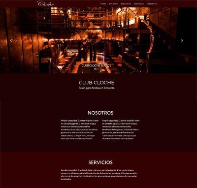 Sitio web www.clubcloche.com.ar