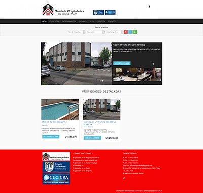 Sitio web www.dominiopropiedades.com.ar