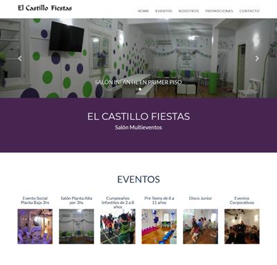 Sitio web www.elcastillofiestas.com.ar