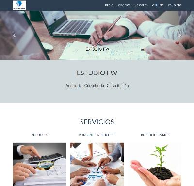 Sitio web www.estudiofw.com.ar