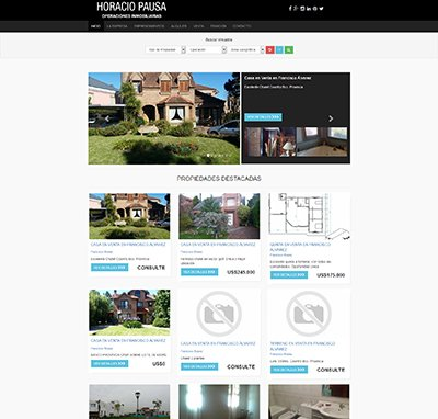 Sitio web www.horaciopausa.com.ar