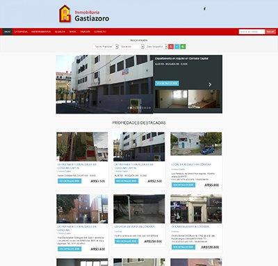 Sitio web www.inmogastiazoro.com.ar
