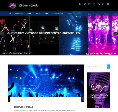 Sitio web www.lilianafowler.com.ar