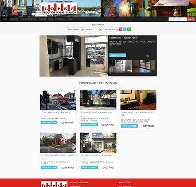 Sitio web www.lopeznegociosinmobiliarios.com.ar