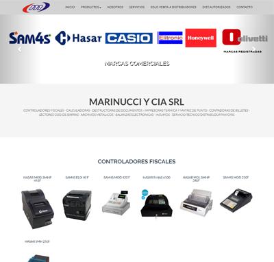 Sitio web www.marinuccisrl.com.ar