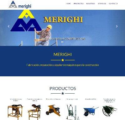 Sitio web www.merighi.com.ar