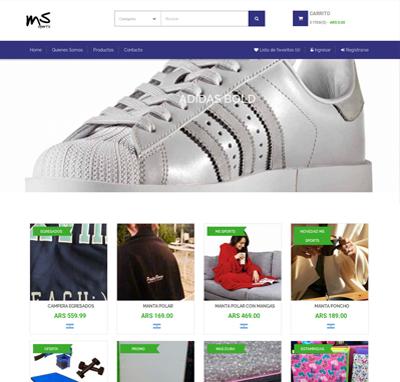 Sitio web www.mssports.com.ar