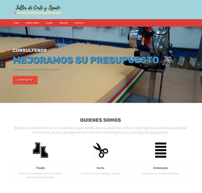 Sitio web www.tallerdecortecleriche.com