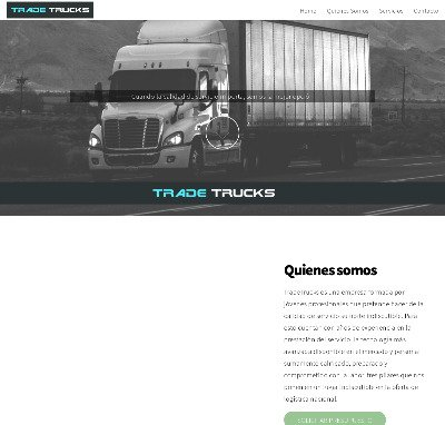 Sitio web www.tradetrucks.com.ar